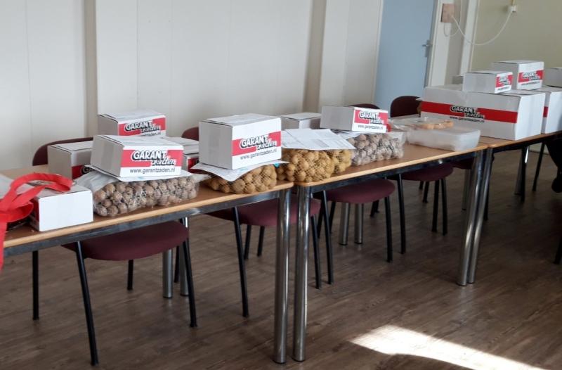 Himmeldei maart 2019. Het nieuwe seizoen is begonnen, met het uitdelen van bestelde pootaardappelen en zaad. !